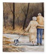 Unspoken Love Fleece Blanket