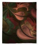 Untitled 01-26-10 Earth Tones Fleece Blanket