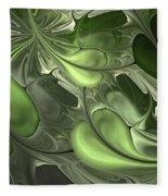 Untitled 1-26-10 Pale Green Fleece Blanket