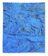 Untitled-weathered Wood Design In Blue Fleece Blanket