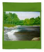 Untitled Plein Aire Fleece Blanket