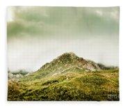 Untouched Mountain Wilderness Fleece Blanket