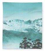 Untouched Winter Peaks Fleece Blanket