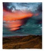Unusual Clouds Catch Sunset Fleece Blanket