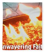 Unwavering Faith Fleece Blanket