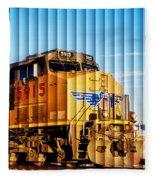 Up 5915 At Track Speed Fleece Blanket