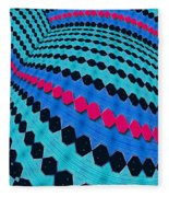 Up Across And Back Fleece Blanket