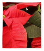 Up Close And Personal Poinsettia  Fleece Blanket