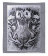 Up Close Clouded Leopard Fleece Blanket