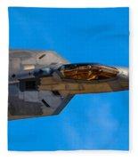 Up Close F-22 Raptor Fleece Blanket
