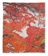 Up Close Flamboyant Fleece Blanket