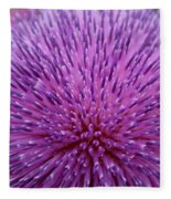 Up Close On Musk Thistle Bloom Fleece Blanket