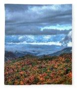 Up In The Clouds Blue Ridge Parkway Mountain Art Fleece Blanket