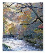 Up The Mountain We Go Fleece Blanket