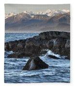 Up The Stikine Fleece Blanket
