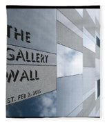 Up The Wall-the Gallery Wall Logo Fleece Blanket