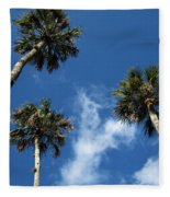 Up To The Sky Palms Fleece Blanket