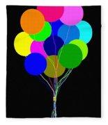 Upbeat Balloons Fleece Blanket