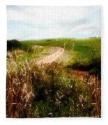 Uphill Curve Fleece Blanket