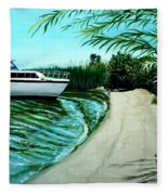 Upon Ashore Fleece Blanket