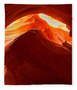 Upper Antelope Sunlit Layers Fleece Blanket