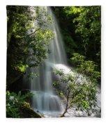 Upper Catawba Falls Fleece Blanket