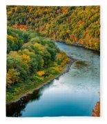 Upper Delaware River Fleece Blanket