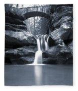 Upper Falls Hocking Hills Ohio Fleece Blanket