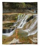 Upper Gorge Falls Of Enfield Glen In Treman State Park Fleece Blanket