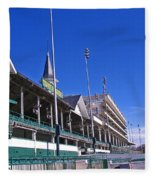 Upper Level Viewing Stands At Churchill Downs Fleece Blanket