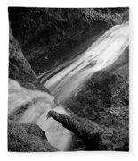 Upper Madison Creek Falls Three Fleece Blanket