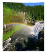 Upper Mesa Falls Fleece Blanket