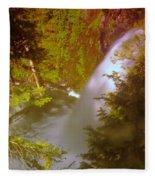 Upper Union Creek Falls  Fleece Blanket
