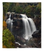 Upper Whitewater Falls - Nc Fleece Blanket