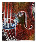 Upright Bass Close Up Fleece Blanket