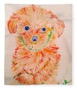 Upright Puppy Fleece Blanket