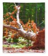 Uprooted Trees Fleece Blanket