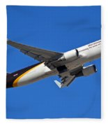 Ups Boeing 767-34af N332up Phoenix Sky Harbor January 12 2015 Fleece Blanket