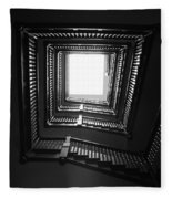 Upstairs- Black And White Photography By Linda Woods Fleece Blanket