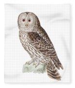 Ural Owl Fleece Blanket