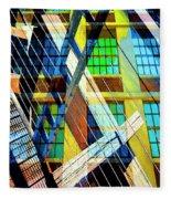 Urban Abstract 123 Fleece Blanket