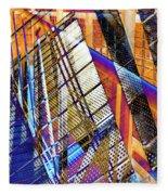 Urban Abstract 157 Fleece Blanket