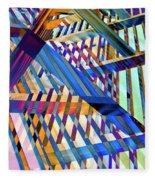 Urban Abstract 258 Fleece Blanket