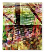 Urban Abstract 369 Fleece Blanket