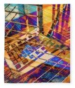 Urban Abstract 423 Fleece Blanket