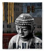 Urban Buddha  Fleece Blanket