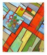 Urban Composition - Abstract Zoning Plan Fleece Blanket