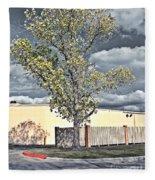 Urban Cottonwood Fleece Blanket