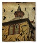 Urban Crows Fleece Blanket