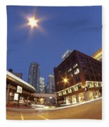 Urban Curves Of Light Fleece Blanket